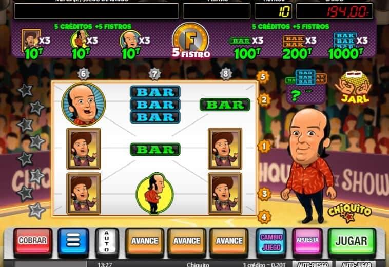 Función de bonus muy popular que ofrece spins gratis y Juegos especiales en Chiquito