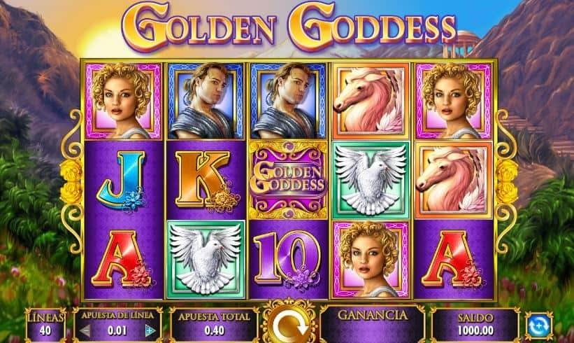 Símbolos, Gráficos, sonidos y animaciones de Golden Goddess