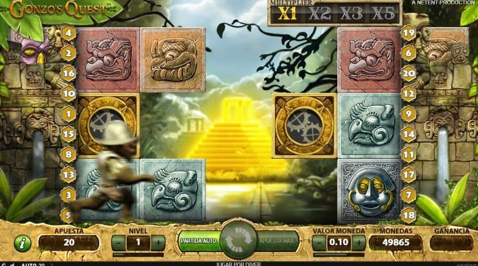 Función de bonus muy popular que ofrece spins gratis y Juegos especiales en Gonzo's Quest