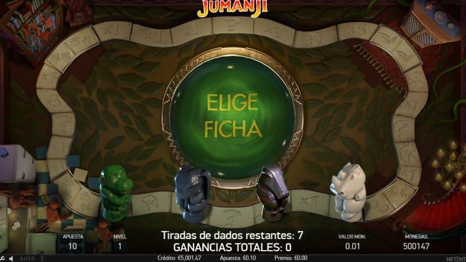 Función de bonus muy popular que ofrece spins gratis y Juegos especiales en Jumanji