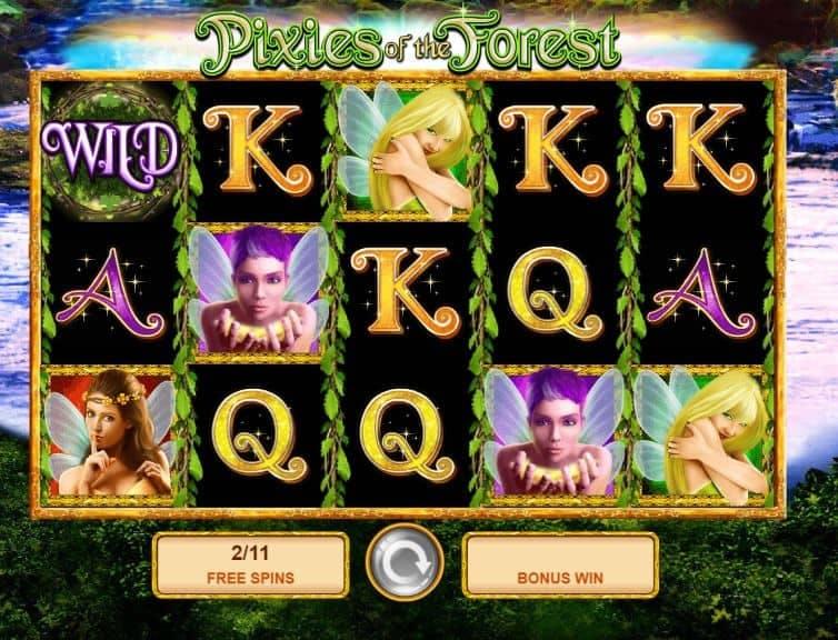 Función de bonus muy popular que ofrece spins gratis y Juegos especiales en Pixies of the Forest