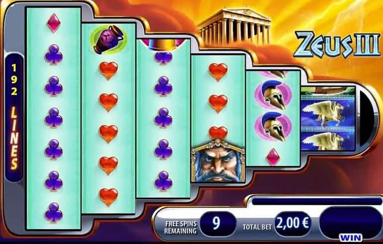 Función de bonus muy popular que ofrece spins gratis y Juegos especiales en Zeus 3