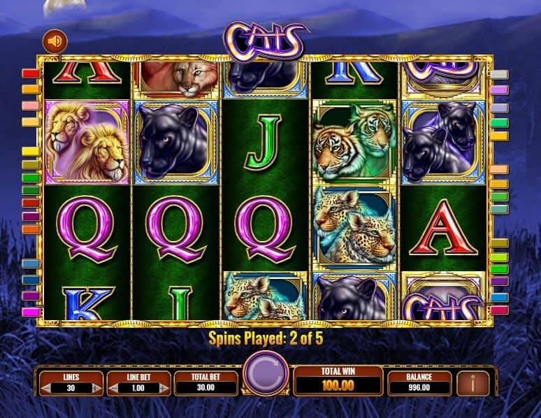 Función de bonus muy popular que ofrece spins gratis y Juegos especiales en Cats