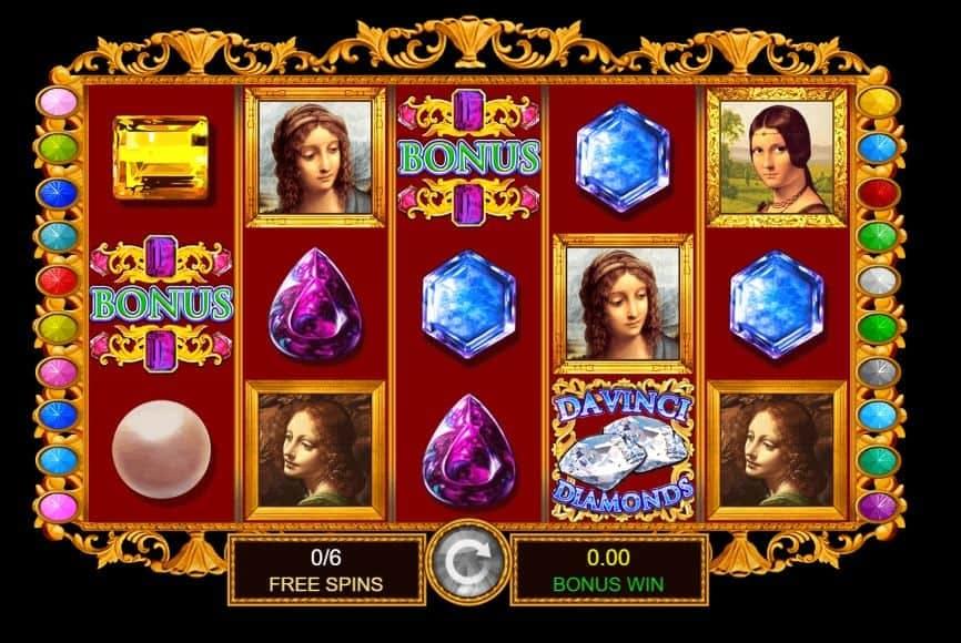 Función de bonus muy popular que ofrece spins gratis y Juegos especiales en Da Vinci Diamonds