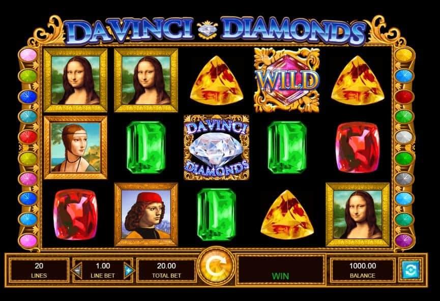 Símbolos, Gráficos, sonidos y animaciones de Da Vinci Diamonds