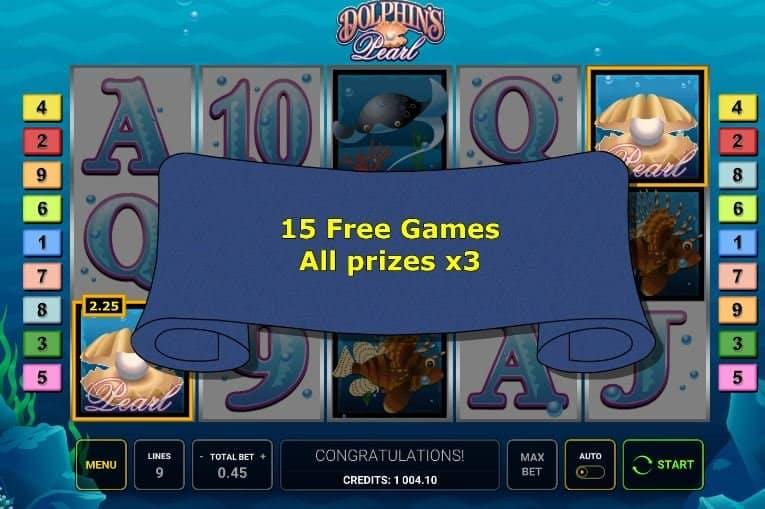 Función de bonus muy popular que ofrece spins gratis y Juegos especiales en Dolphins Pearl