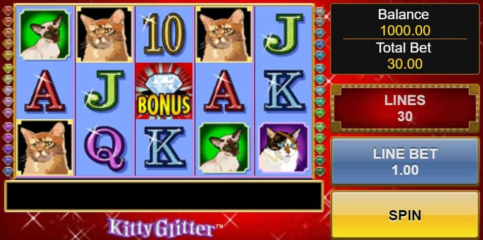 Símbolos, Gráficos, sonidos y animaciones de Kitty Glitter