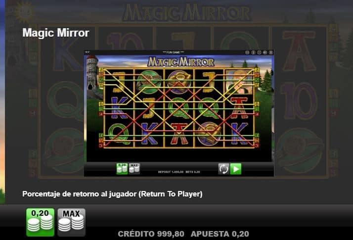 Formas diferentes de realizar combinaciones ganadoras en Magic Mirror