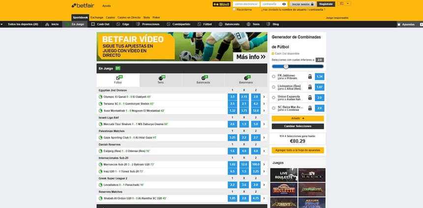 Disfruta en Betfair de las mejores apuestas deportivas online