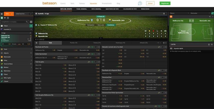Disfruta en Betsson de las mejores apuestas deportivas online