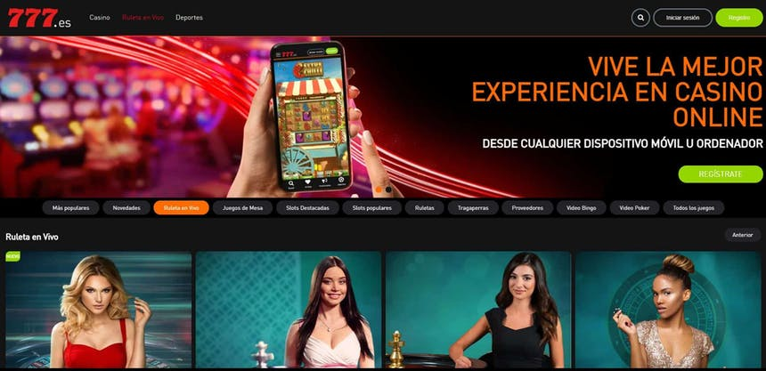 Disfruta del casino en vivo y juega a tu juego favorito en Casino777