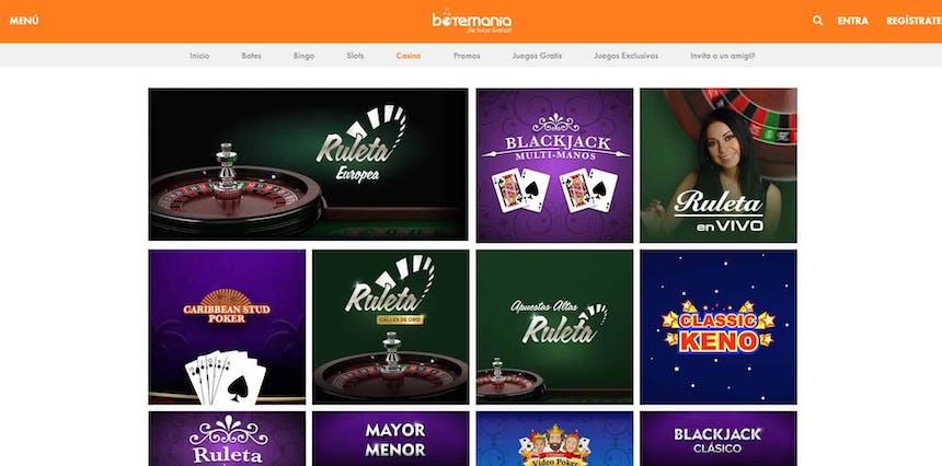 Disfruta del casino en vivo y juega a tu juego favorito en Botemania