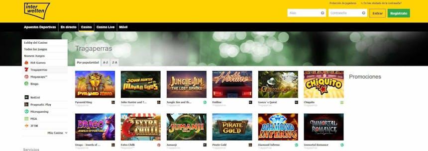 juegos de slot online en Interwetten