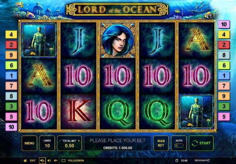 Símbolos, Gráficos, sonidos y animaciones de Lord of the Ocean