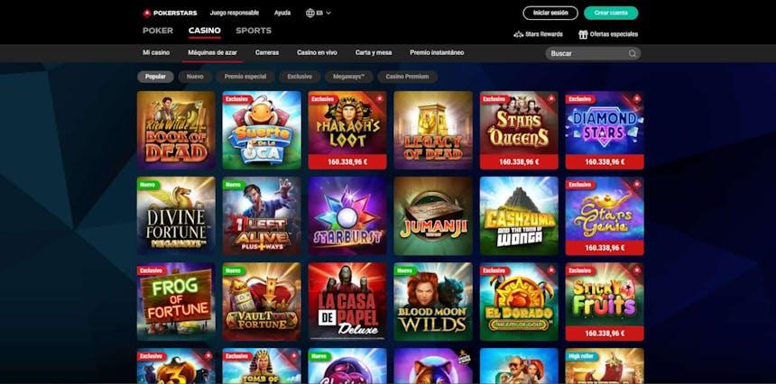 Juegos de slot online en PokerStars