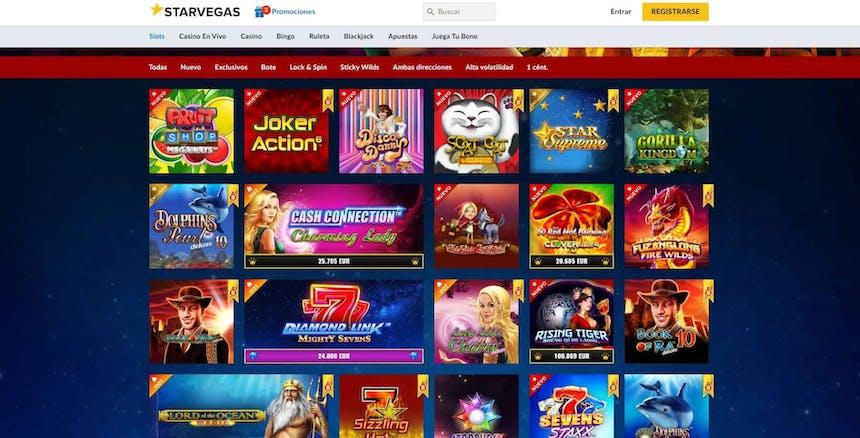 Juegos de slot online en Starvegas