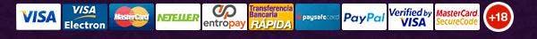 Métodos de pago del Tragaperras777
