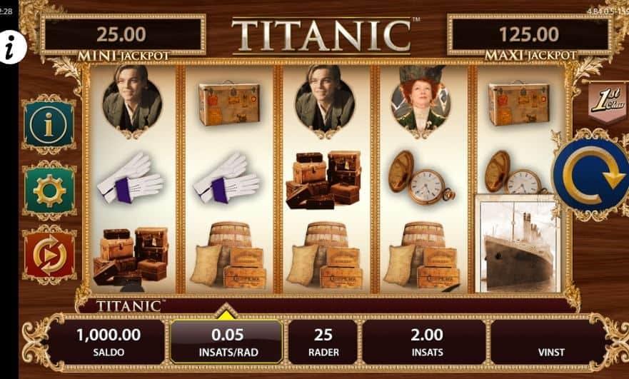 Símbolos, Gráficos, sonidos y animaciones de Titanic