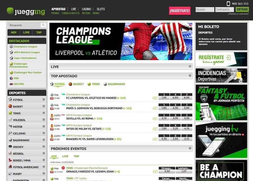 Disfruta en Juegging de las mejores apuestas deportivas online'