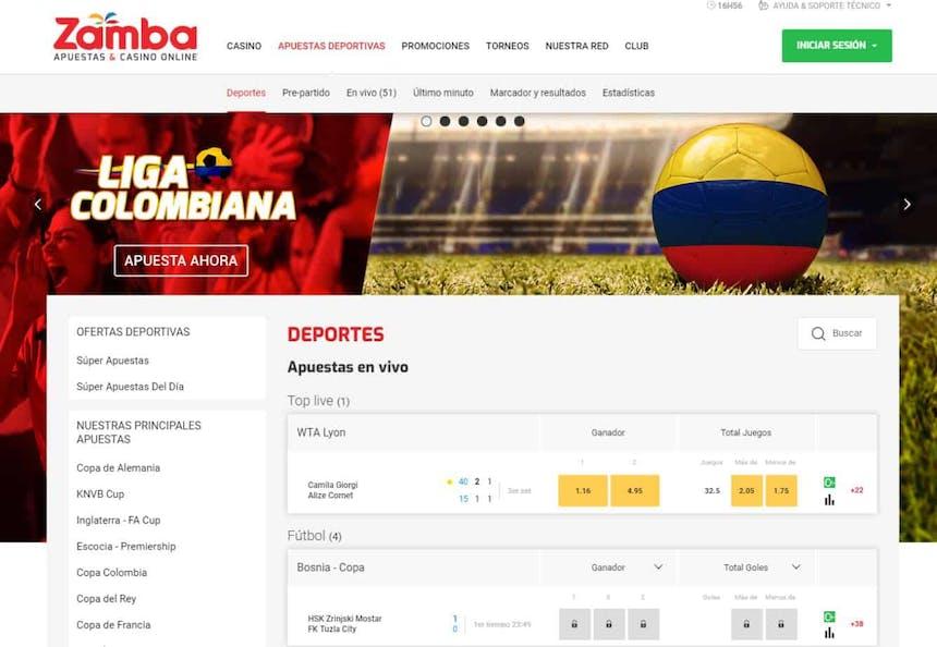 Disfruta en Zamba de las mejores apuestas deportivas online'