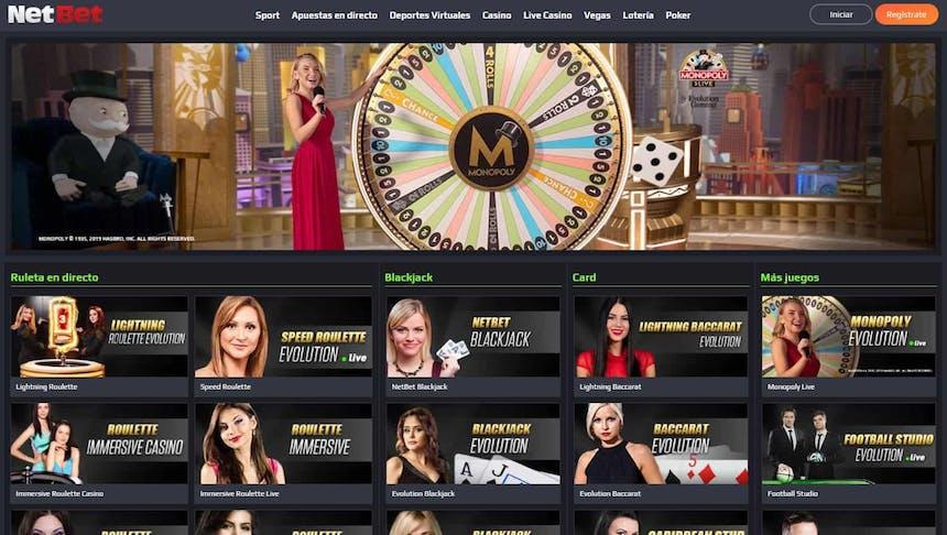 Disfruta del casino en vivo y juega a tu juego favorito en Netbet