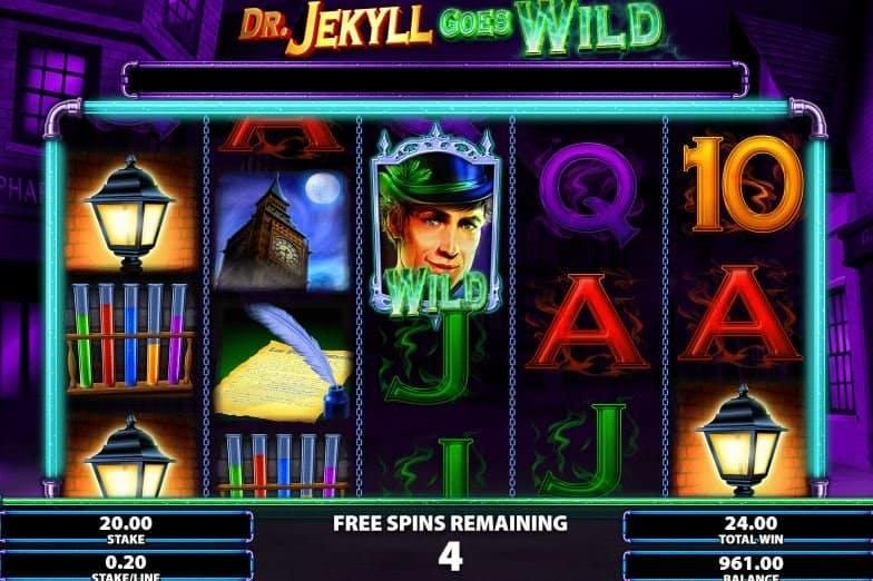 Función de bonus muy popular que ofrece spins gratis y Juegos especiales en Dr.Jekyll Goes Wild