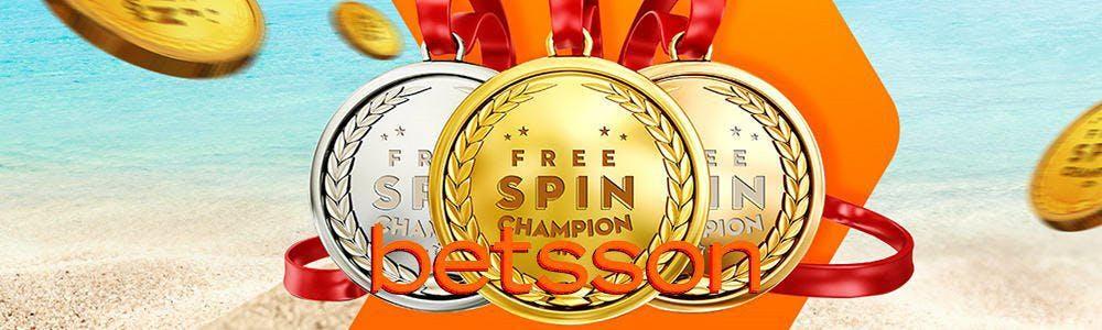 Tiradas gratuitas Betsson ¡Free Spin Champion!