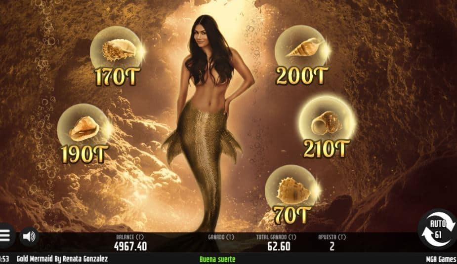 Función de bonus muy popular que ofrece spins gratis y Juegos especiales en Gold Mermaid Renata Gonzales