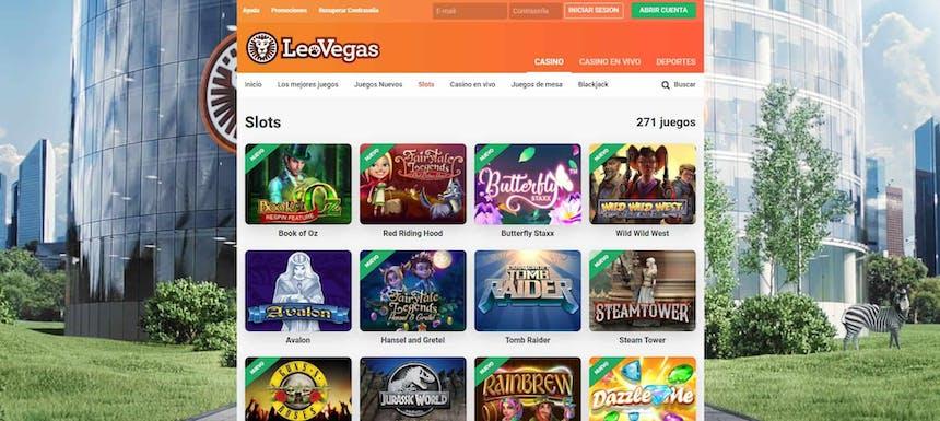 juegos de slot online en Leovegas