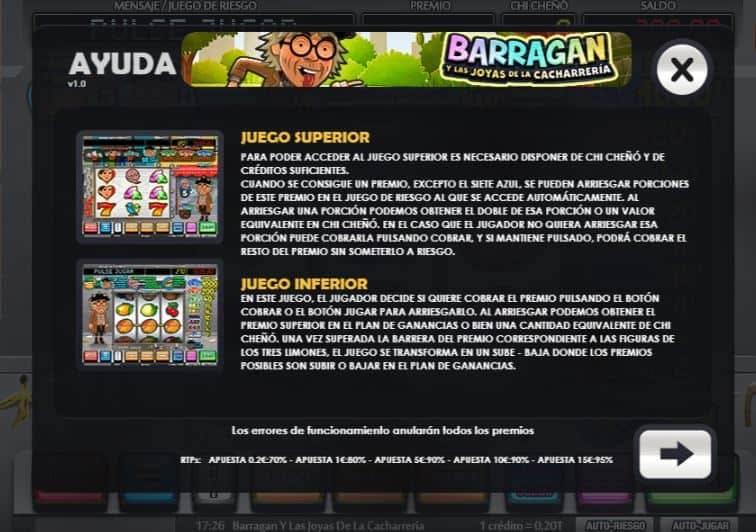 Tabla de pagos de Barragan y Las Joyas De La Cacharreria