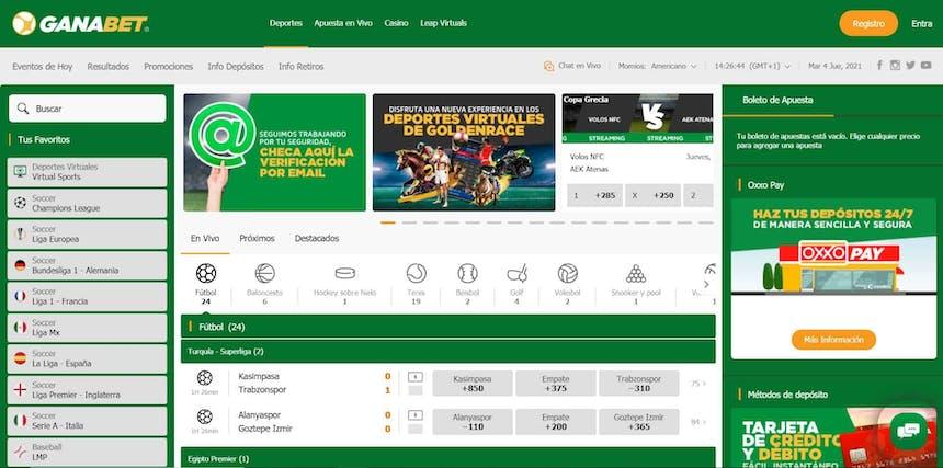 Disfruta en ganabet de las mejores apuestas deportivas online