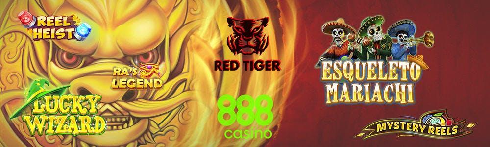 Los juegos de Red Tiger disponibles en 888casino