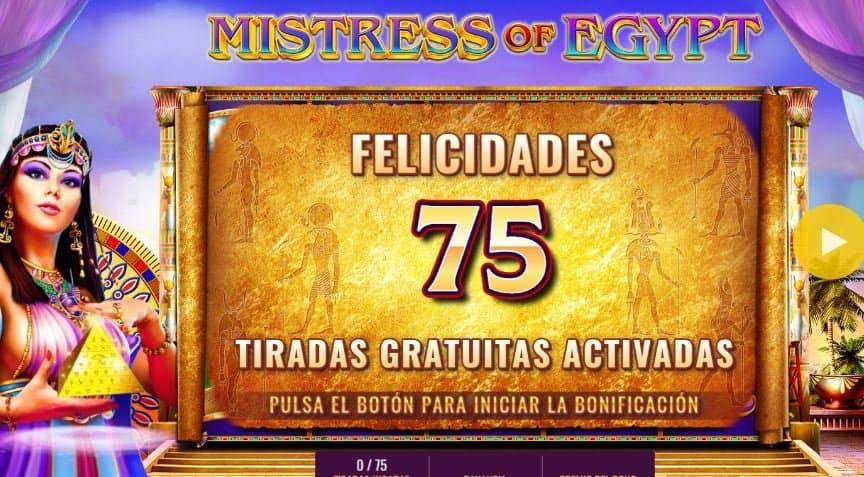 Función de bonus muy popular que ofrece spins gratis y Juegos especiales en Mistress of Egypt Diamond Spins