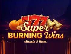 Super Burning Wins: classic 5 lines logo
