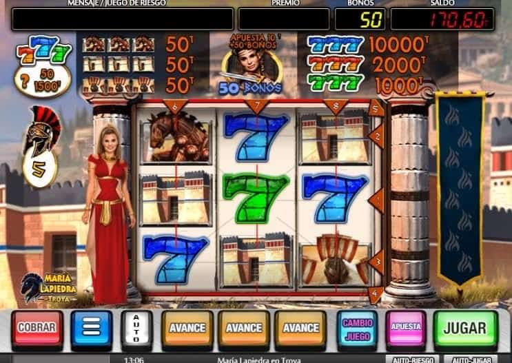 Función de bonus muy popular que ofrece spins gratis y Juegos especiales en Maria Lapiedra en Troya