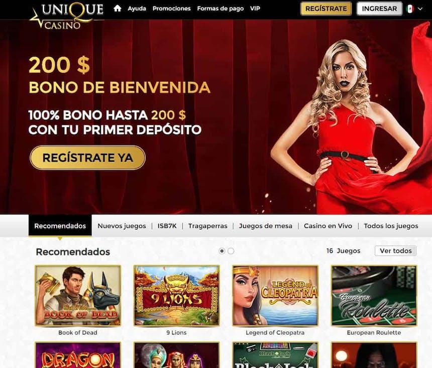 Juegos de slot online en Uniquecasino