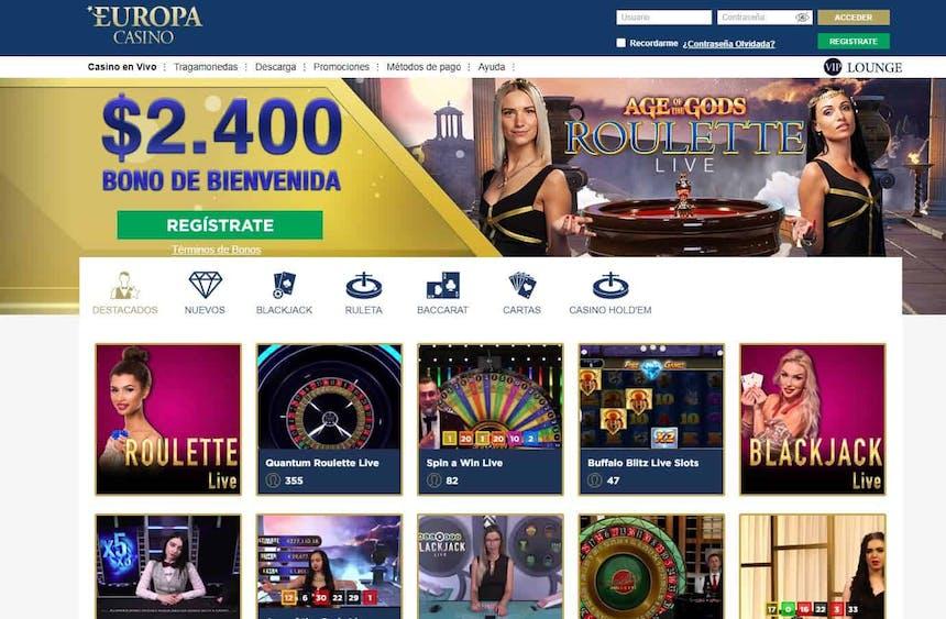 Disfruta del casino en vivo y juega a tu juego favorito en Europa Casino