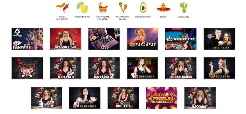 Disfruta del casino en vivo y juega a tu juego favorito en La Fiesta Casino