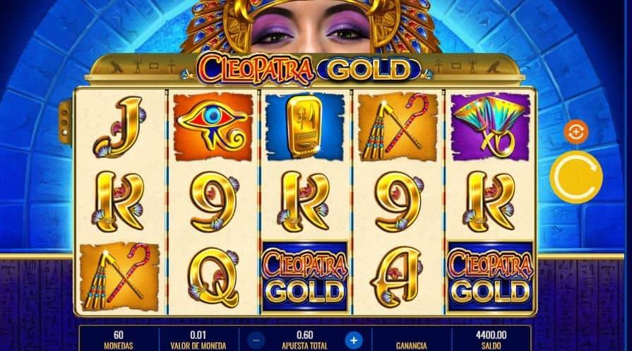 Símbolos, Gráficos, sonidos y animaciones de Cleopatra Gold