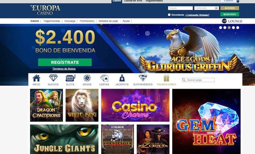 bono e promozione del Europa Casino