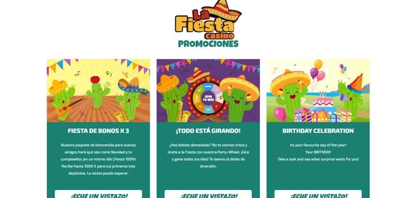 bono e promozione del La Fiesta Casino