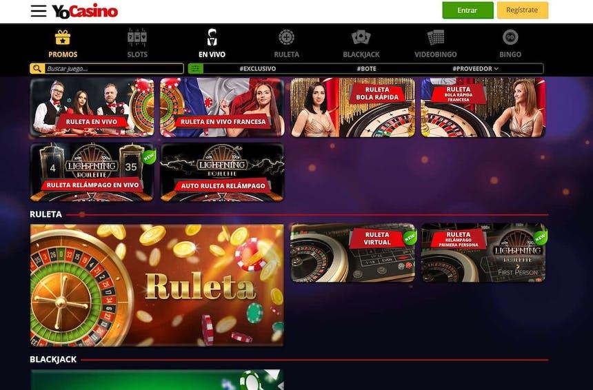 Disfruta del casino en vivo y juega a tu juego favorito en Yocasino