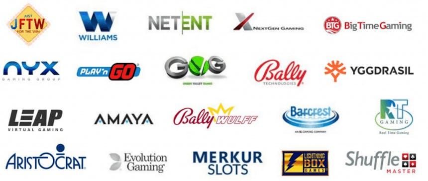 Los mejores proveedores de tragaperras online