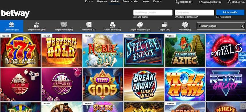 Juegos de slot online en Betway Chile