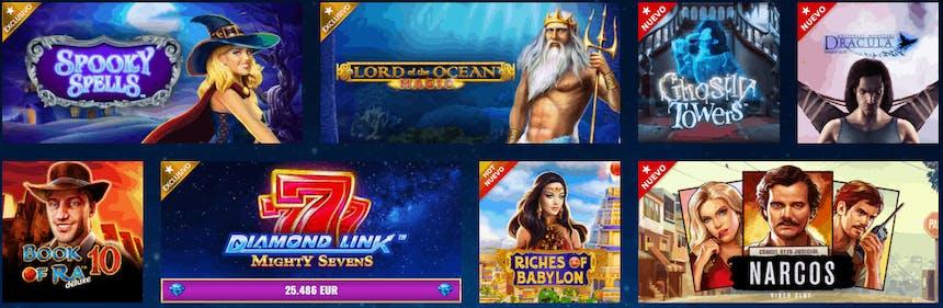 juegos de casino, tragamonedas e tragaperras su Starvegas