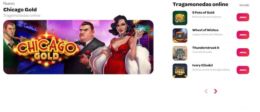 juegos de slot online en Spin Casino