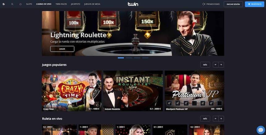 Disfruta del casino en vivo y juega a tu juego favorito en Twin