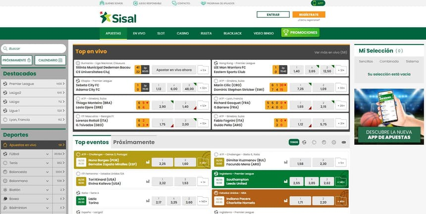 Disfruta en Sisal de las mejores apuestas deportivas online