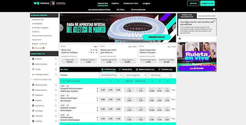 Disfruta en Versus de las mejores apuestas deportivas online