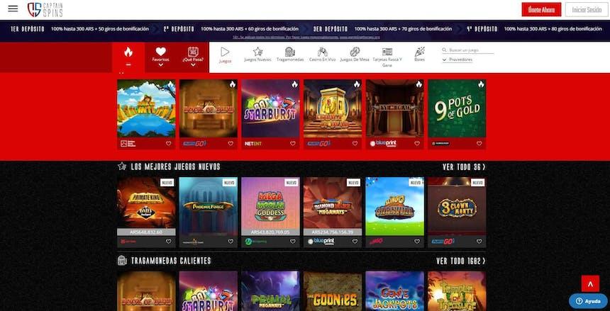 juegos de slot online en CaptainSpins